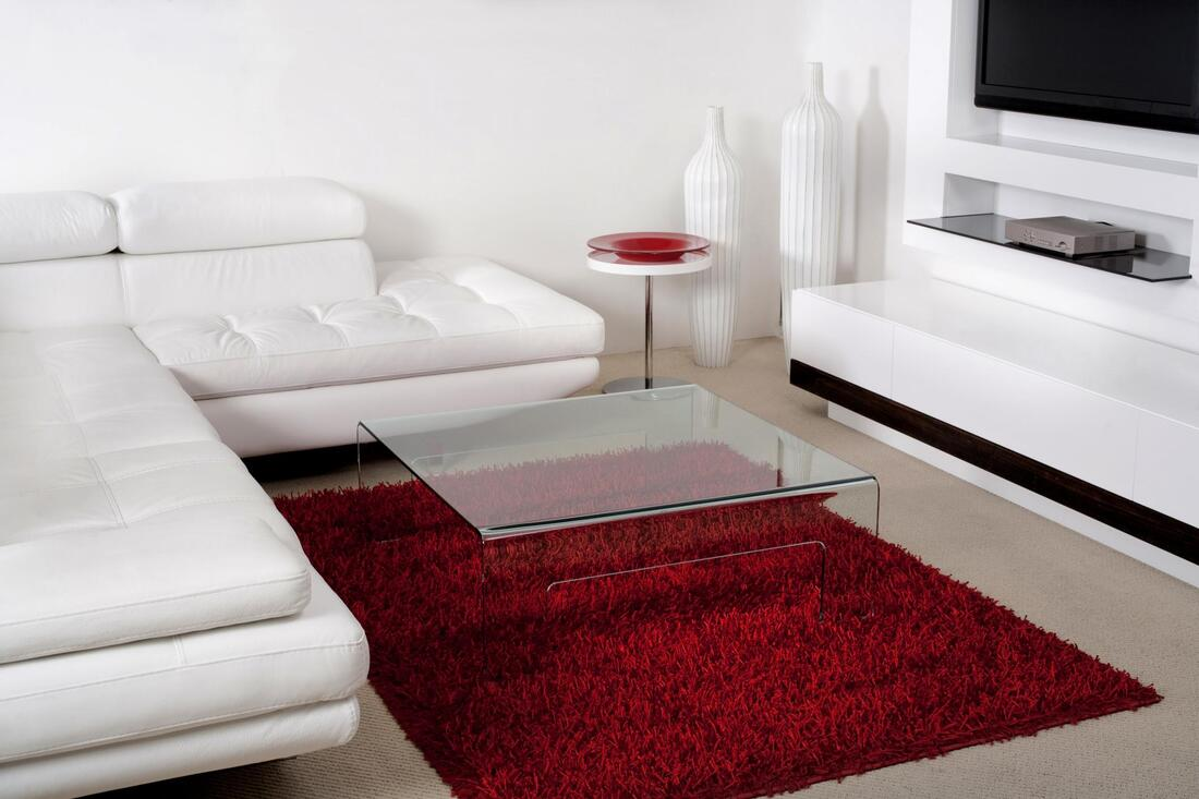 red rug in the room